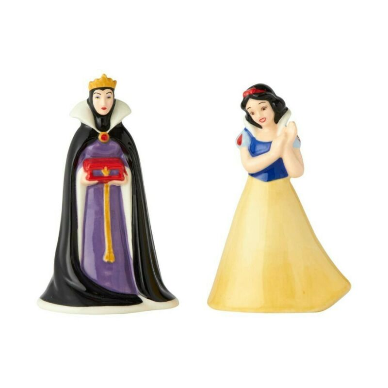 Disney Ceramics 6001017 SNOW WHITE AND EVIL QUEEN Salt and Pepper Shakers