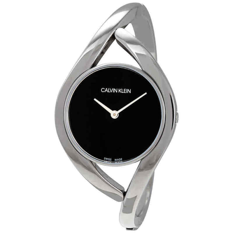 Calvin Klein Party Medium Black Dial Bangle Ladies Watch K8U2M111