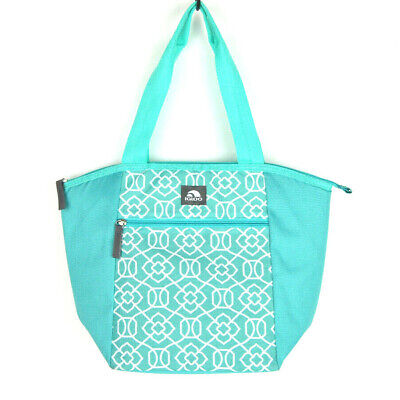 """Igloo Cooler Blue White Insulated Lunch Bag Lunch Box Essential Tote 12"""""""