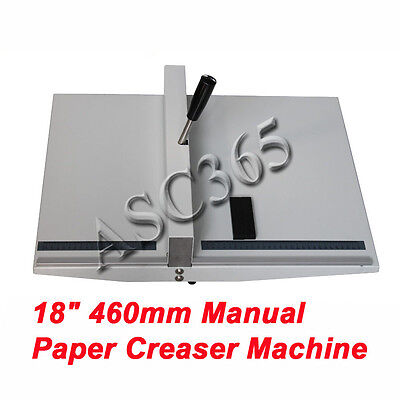 460mm 18 Manual Scoring Paper Creasing Machine Magetic Lock Brand New