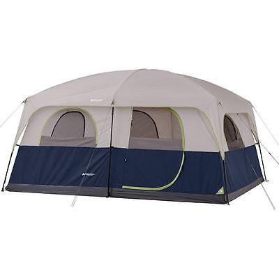 ซื้อ 10 Person Family Cabin Tent 2-Room Camping Sleep Outdoor Travel House Tunnel ราคาถูก