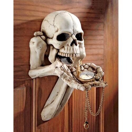 Ghoulish Bony Fingers Skull Skeleton Trinket Holder Barebone Wall Sculpture
