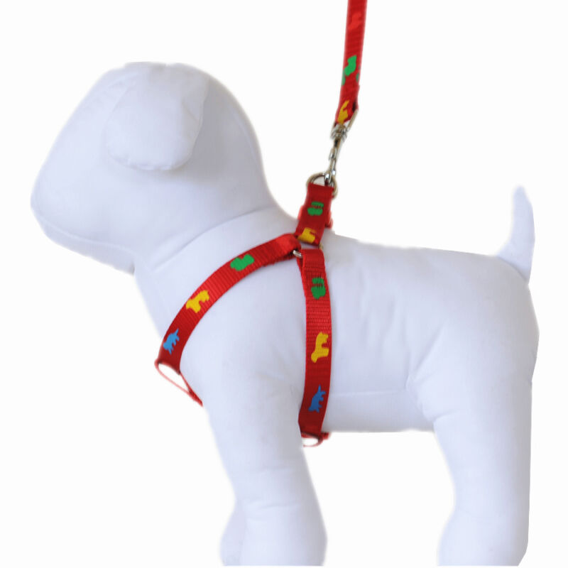 12Pcs A Sat Dog Pet Adjustable Nylon Harness Easy To Use With Leash Small Size