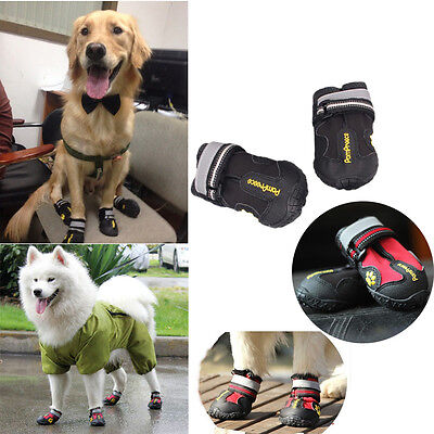 (Waterproof Pet Shoes Anti Skid Dog Boots For Medium/Large Labrador Husky Shoes D)