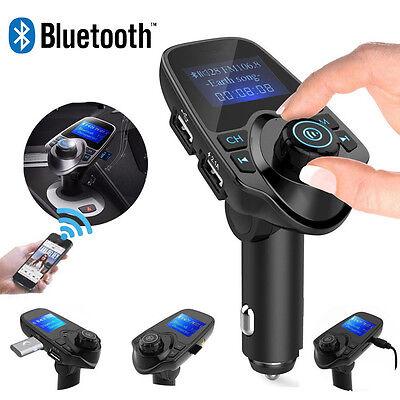 LCD Bluetooth Auto MP3 FM Transmitter Freisprechanlage USB Ladegerät AUX