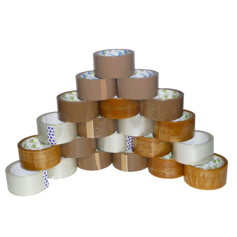 8 Sorte Klebeband Packband Paketband Paketklebeband  Braun Transpare 1-216Rollen