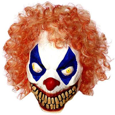 Latex ' Böser Clown Orange Haare 'Halloween Böses Horror Kostüm Requisiten