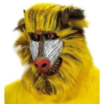 LATEX PAVIAN MASKE Affenmaske Pavianmaske Affen Dschungel Kostüm Party Deko - Pavian Kostüm