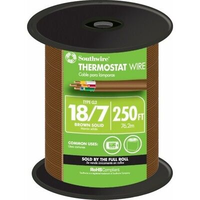Southwire 64170444 250-ft 187 Thermostat Wire By-the-roll New Free Shipping
