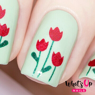 Tulips Stencils for Nails, Nail Stickers, Nail Art, Nail Vinyls for sale  Tempe