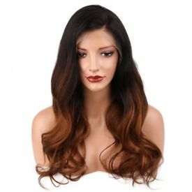 1b/30 Ombre Lace Front Pre Plucked Body Wave Brazilian Wig