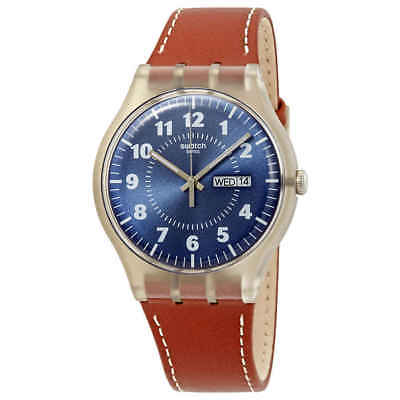 Swatch Vent Brulant Blue Dial Men's Watch SUOK709