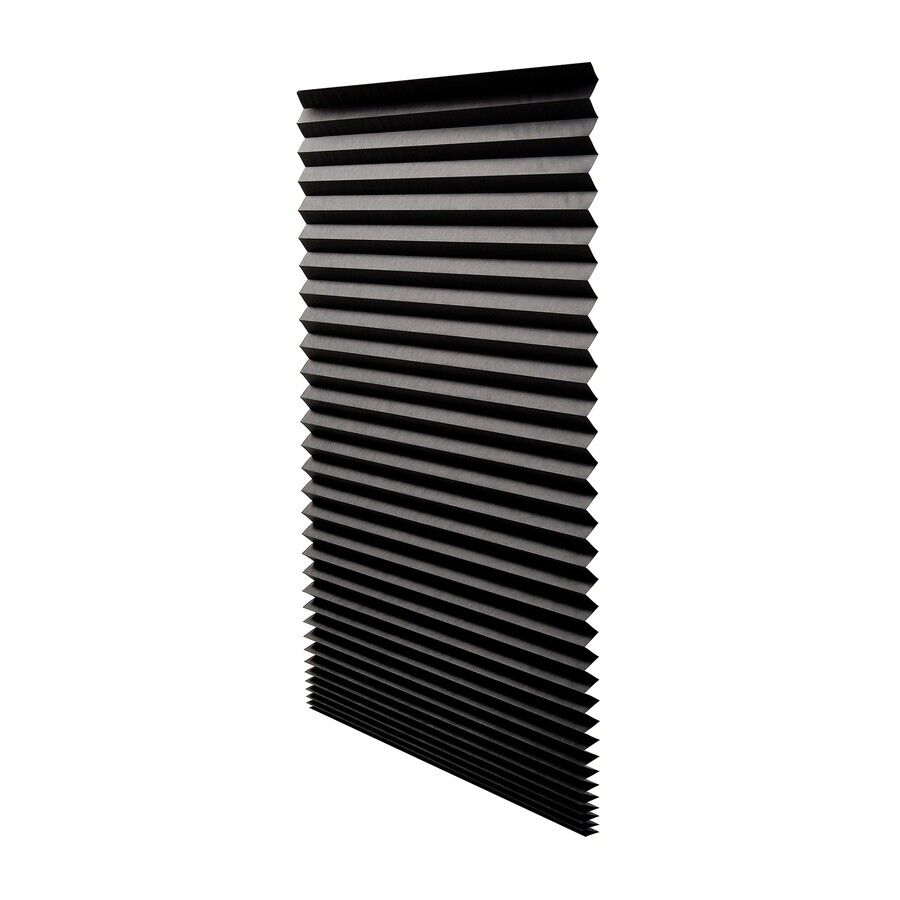 PAPER PLEATED SHADE 36 x 72 Window Blind Blackout Light Block Cordless Black