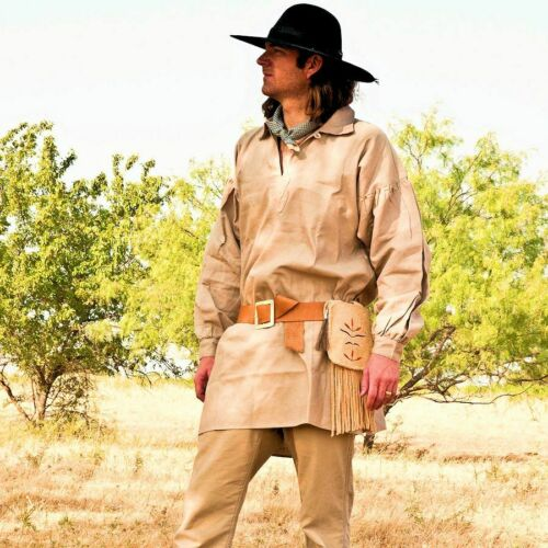18th Century Frontier Pullover Shirt Hunting Black Powder Fur Trade Clothing
