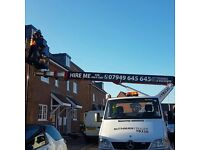 Cherry picker with Operator for hire 24/7 london and Essex