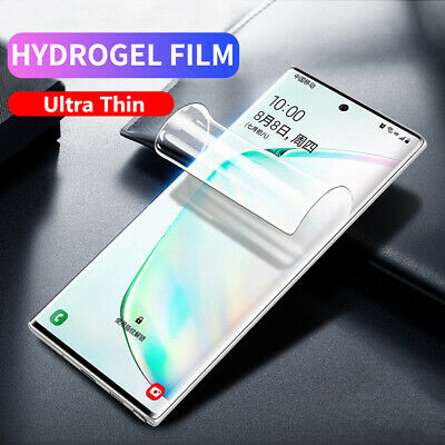 Front & Back Screen Protector Full Cover Soft Silicone Hydrogel For OnePlus 7T -