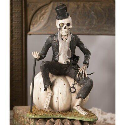 "Bethany Lowe Mr. Skeleton On Pumpkin 13"" TD9074"