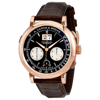 A. Lange and Sohne Datograph Up Down Black Dial 18K Pink Gold Mens Watch 405.031