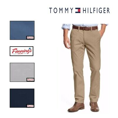 SALE Tommy Hilfiger Chino Pants Men's Tailored Fit Flat Front VARIETY SZ/CLR F21