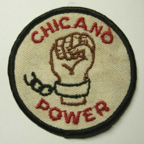 """1960s / 70s Mexican American Political Patch """"CHICANO POWER"""""""