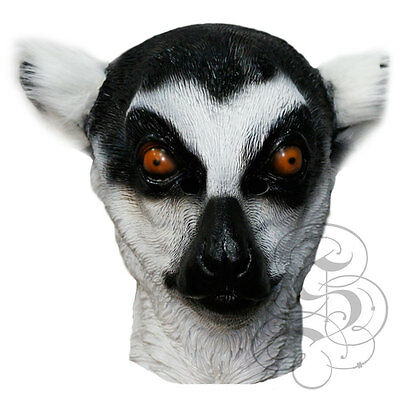 Latex Lemur - Woodland Kopf Realistische Party Maske - (Lemur Kostüme)