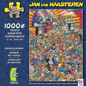 CROWD PLEASERS JIGSAW PUZZLE ROCK AROUND THE CLOCK JAN VAN HAASTEREN 1000 PCS