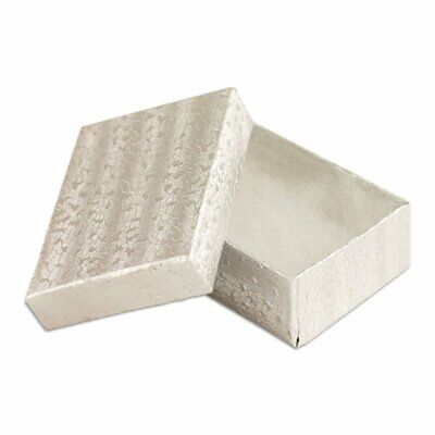 50 Silver Cotton Filled Jewelry Display Gift Boxes 3x2
