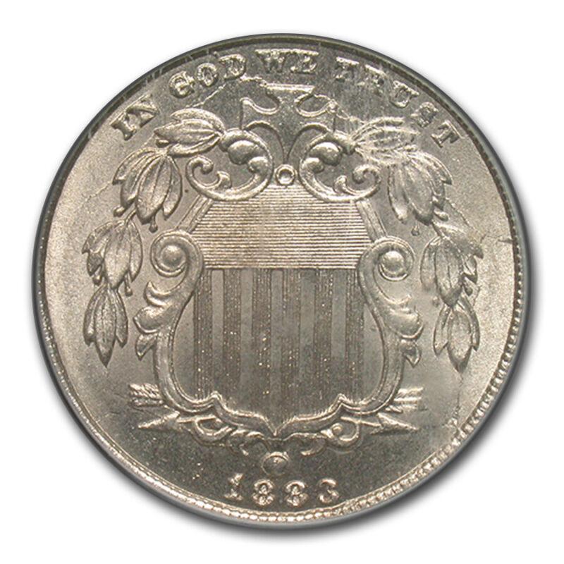 1883 Shield Nickel MS-65 PCGS - SKU#172700