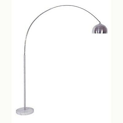 Arc floor lampebay 1 floor arc lamp with marble base in nickel finish 81 h mozeypictures Image collections