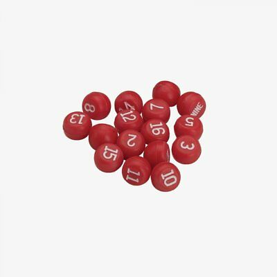 Red Balls (Red Plastic Tally Balls for Pill Pool Bottles, Cut Throat and More)