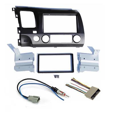 double din wiring harness double image wiring diagram 2006 11 honda civic double din dash radio stereo install kit w on double din wiring