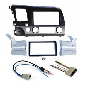 Aftermarket Double Din Radio Stereo Install Navigation Dash Kit + Wire Harness