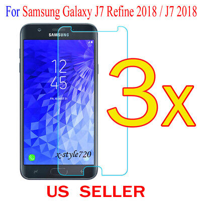 3x Clear Screen Protector Guard Film For Samsung Galaxy J7 Refine 2018 / J7 2018 3 Screen Protector Guard