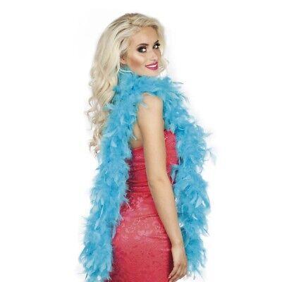 TÜRKISE FEDERBOA # Karneval Federschlange Boa Charleston Kostüm Party Deko 52712 ()