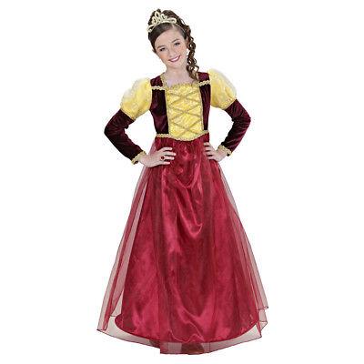 MITTELALTERLICHE PRINZESSIN KOSTÜM & KRONE KINDER Karneval Kleid Mädchen # 0156 ()