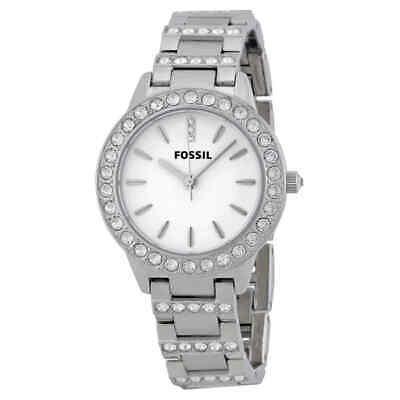 Fossil Glitz White Dial Stainless Steel Ladies Watch ES2362