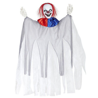KILLER CLOWN FIGUR # Halloween Puppe Mörder Horror Party Deko Hängefigur 01387
