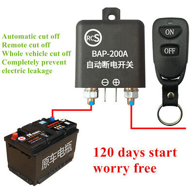 Wireless Remote Car Battery Disconnect Isolator Master Switch System Kill Power
