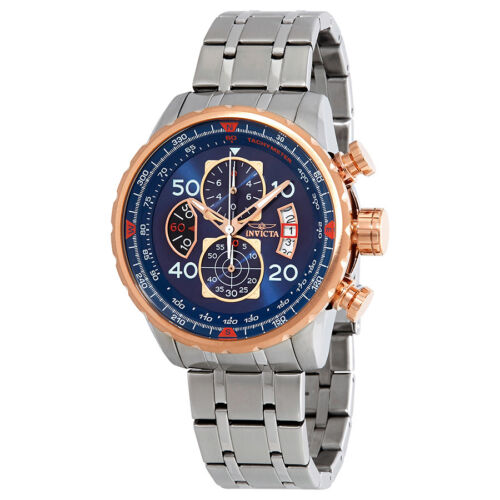 Invicta Aviator Chronograph Blue Dial Mens Watch 17203
