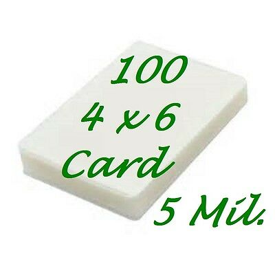 4 X 6 Laminating Laminator Pouches Sheets 100 4-14 X 6-14 5 Mil Scotch Qualit