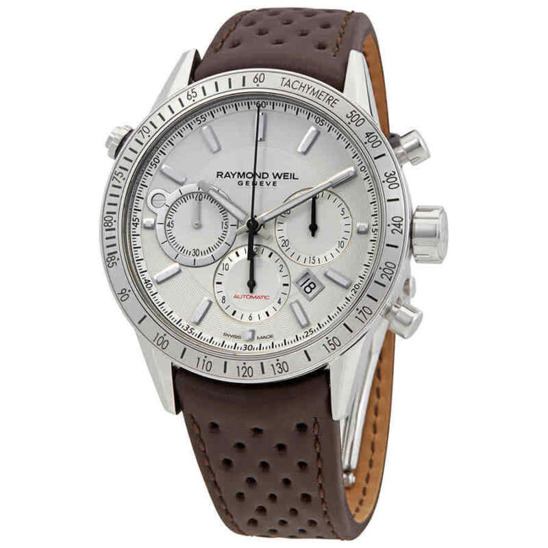 Raymond-Weil-Freelancer-Chronograph-Automatic-White-Dial-Men-Watch
