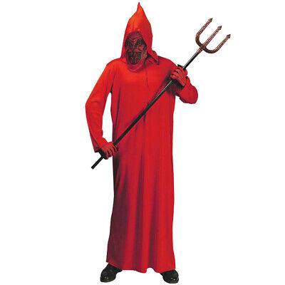 ROTES HERREN TEUFELKOSTÜM Halloween Karneval Satan Robe Teufel Kostüm Party 0278