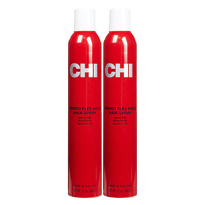 CHI Enviro Flex Hold Hair Spray Natural Hold 12 oz (Pack of 2)