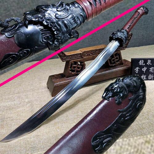 Tiger Theme Chinese KungFu Battle Saber Knife Sharp WuShu Broadsword Dao Sword