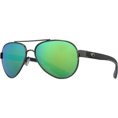 9a54e76d184 New Costa del Mar Loreto Sunglasses Gunmetal Black Green Mirror 580P Aviator