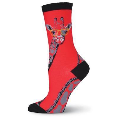 New K. Bell Women's 2 pairs Crew Socks Shoe 4-10 GIRAFFE w/ GLASSES Nerd gift](Nerd Glasses Bulk)