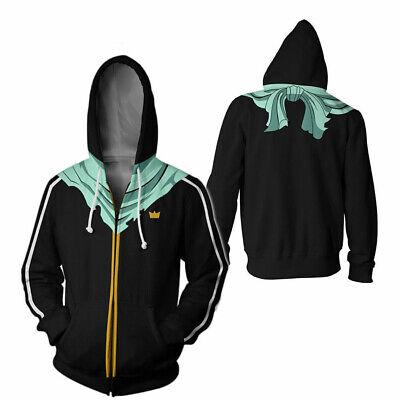 Neueste Braune Kapuzenpullover Cosplay Kostüm Reißverschluss Jacke 8 - Neueste Kostüm