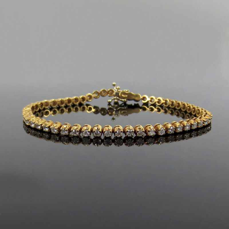 Classic 2.50ct Gh/si Round Diamond 18k Rose Gold 4 Prong Tennis Bracelet