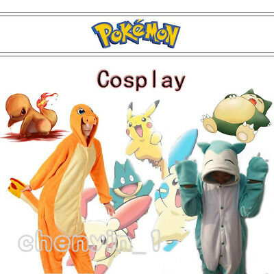 Animal Snorlax/Charmander Kigurumi Cosplay Pokemon Sleepwear Halloween/XMAS (Snorlax Cosplay Kostüm)