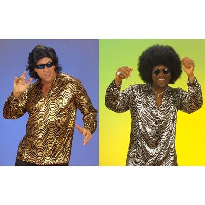DISCO NIGHT FEVER HERREN HEMD # 70er 80er Jahre Hippie Männer Kostüm Shirt 5802 (80 Männer Kostüme)